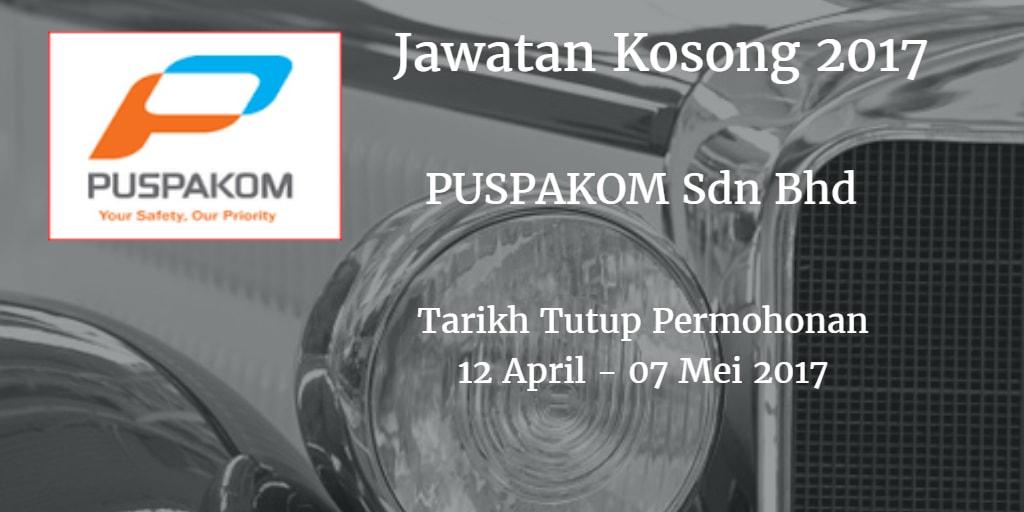 Jawatan Kosong PUSPAKOM Sdn Bhd 12 April - 07 Mei 2017