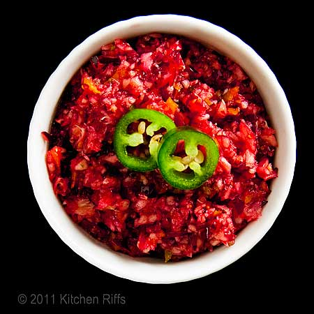 Cranberry Relish with Jalapeno