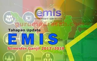 Tahapan Update Emis Semster Ganjil 2017-2018