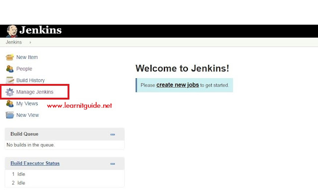 jenkins portal main screen