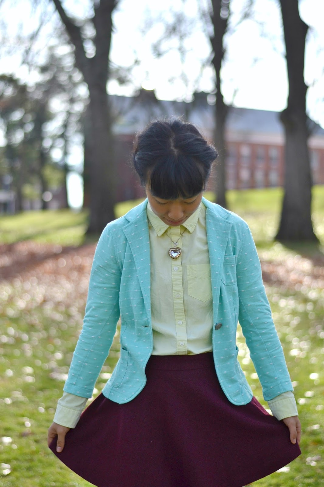 college fashion, colorful outfit, asian fashion