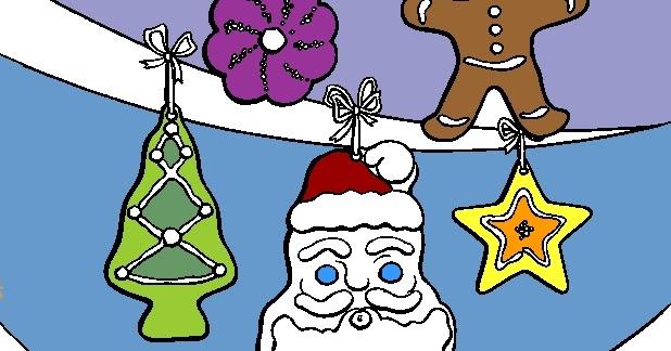 Baú Da Web: Enfeites De Natal Para Colorir