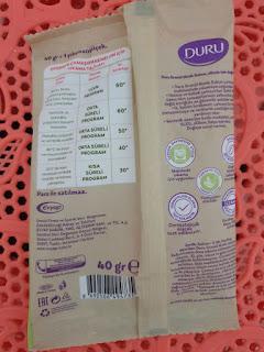 Duru Sabun Deterjan Kullananlar, Duru Granül Matik Sabun içeriği