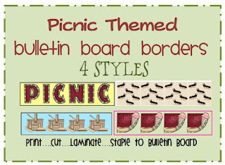 picnic themed bulletin board border