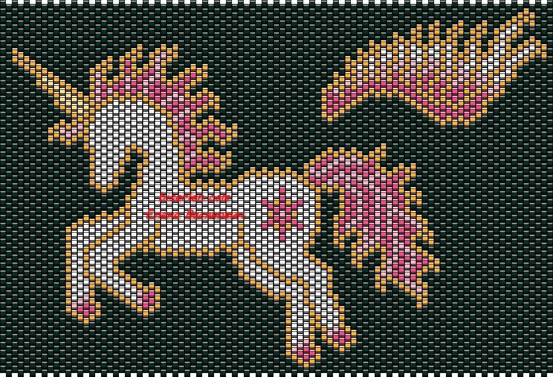 Лошадка из бисера схема кирпичным плетением
