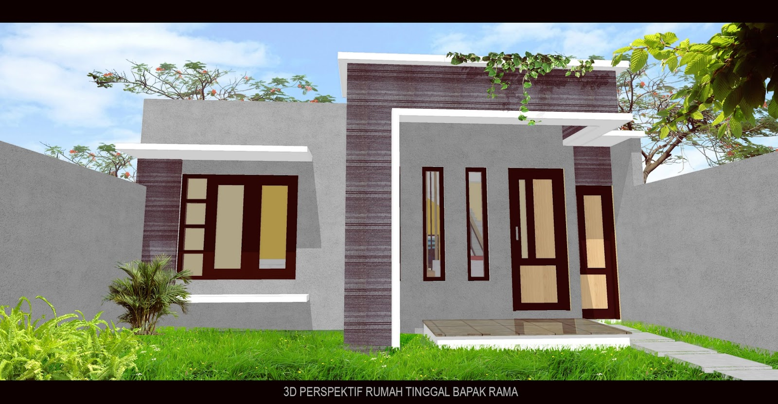 Rumah Minimalis 1 Lantai Dak Di Lahan 7x12 M Bpk Rama