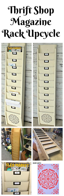 Thrift Shop Wall Magazine Rack to Family File Center