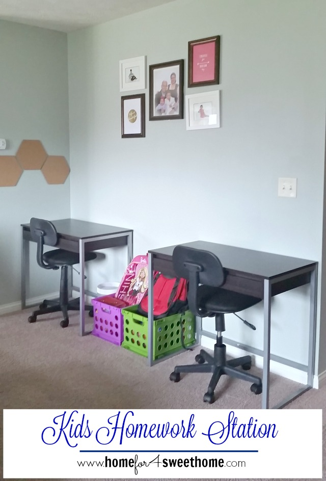 The Kids Are So Happy And The Mr. And I, Are So Happy That They Finally  Have A Space To Do Their Homework. We Bought These Two Narrow Desks From  Target.