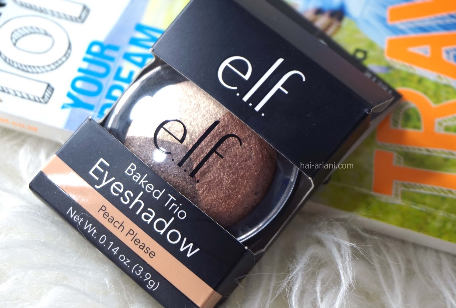ELF BAKED TRIO EYESHADOW  PEACH PLEASE REVIEW