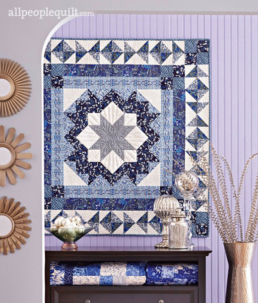 Stellar Blues Quilt Free Pattern Designed By Amanda Castor of Material Girl Quilts for Allpeoplequilt