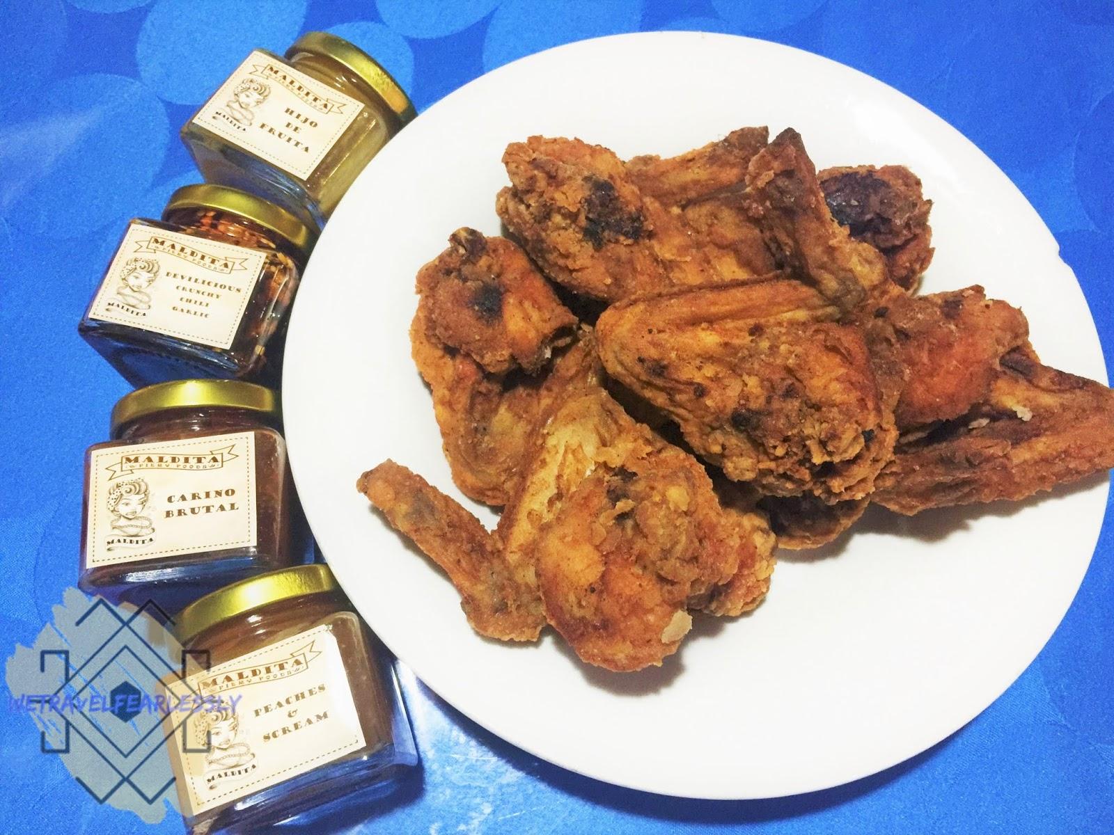 Maldita Fiery Foods - Hot sauce and crispy fried chicken? Take me to heaven man!