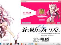 [Theme Win 7] Ao no Kanata no Four Rhythm - Kurashina Asuka by Eldiaz7