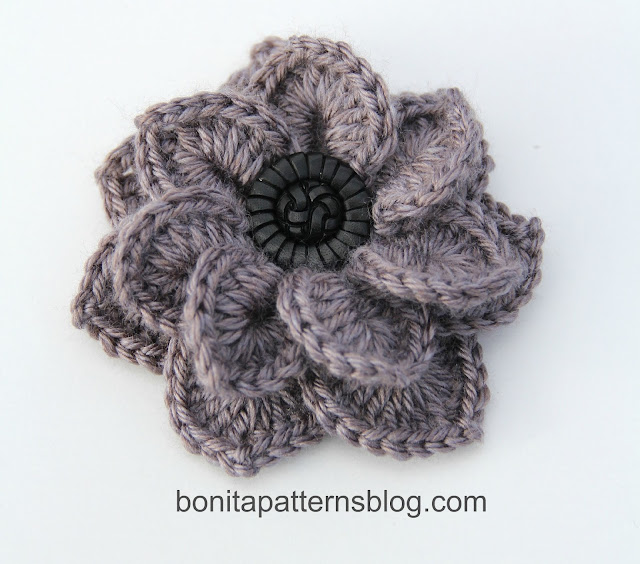 Free Crochet Pattern For A Flower For A Hat ~ Dancox for .