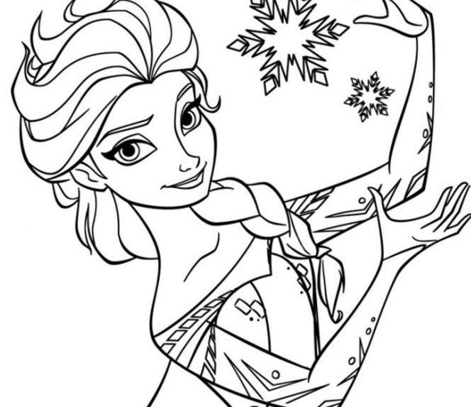 Gambar Mewarnai Elsa Frozen  Gambar Mewarnai Lucu