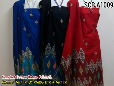 SCR 1009 : SONGKET COTTON RATNA, PRINTED