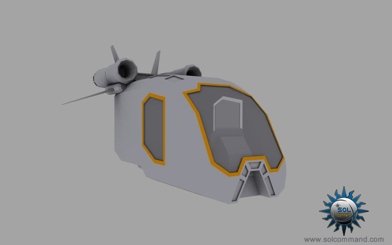 Jarter light space ship 3d model starter starting noob pilot flight academy scifi futuristic taxi small design compact spaceship space ship civilian passenger solcommand free download