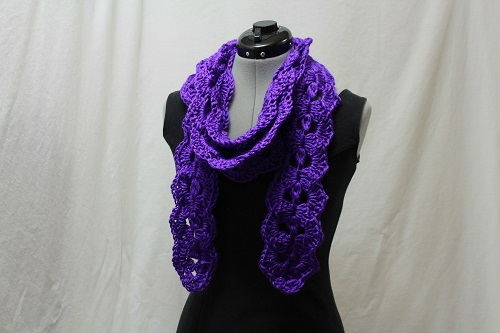 1-2-3 Beautiful Scarf, crochet, pattern, for sale, Ravelry, scarf, cowl, Caron Simply Soft, yarn