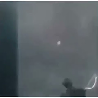 UFO over Thailand in sequence of film showing how it got struck by lightening.