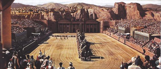 Fotograma de la película Ben-Hur. Circo de Roma
