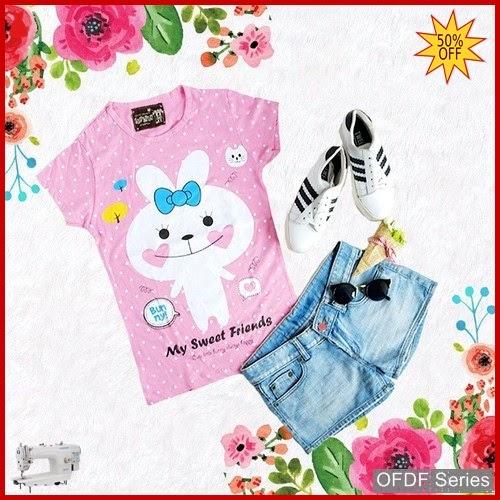 OFDF270 Atasan Kaos My Sweet Friends Kode BMGShop