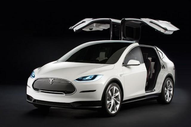 Introduce 2016 Tesla Model 3 electric newcar front open doors