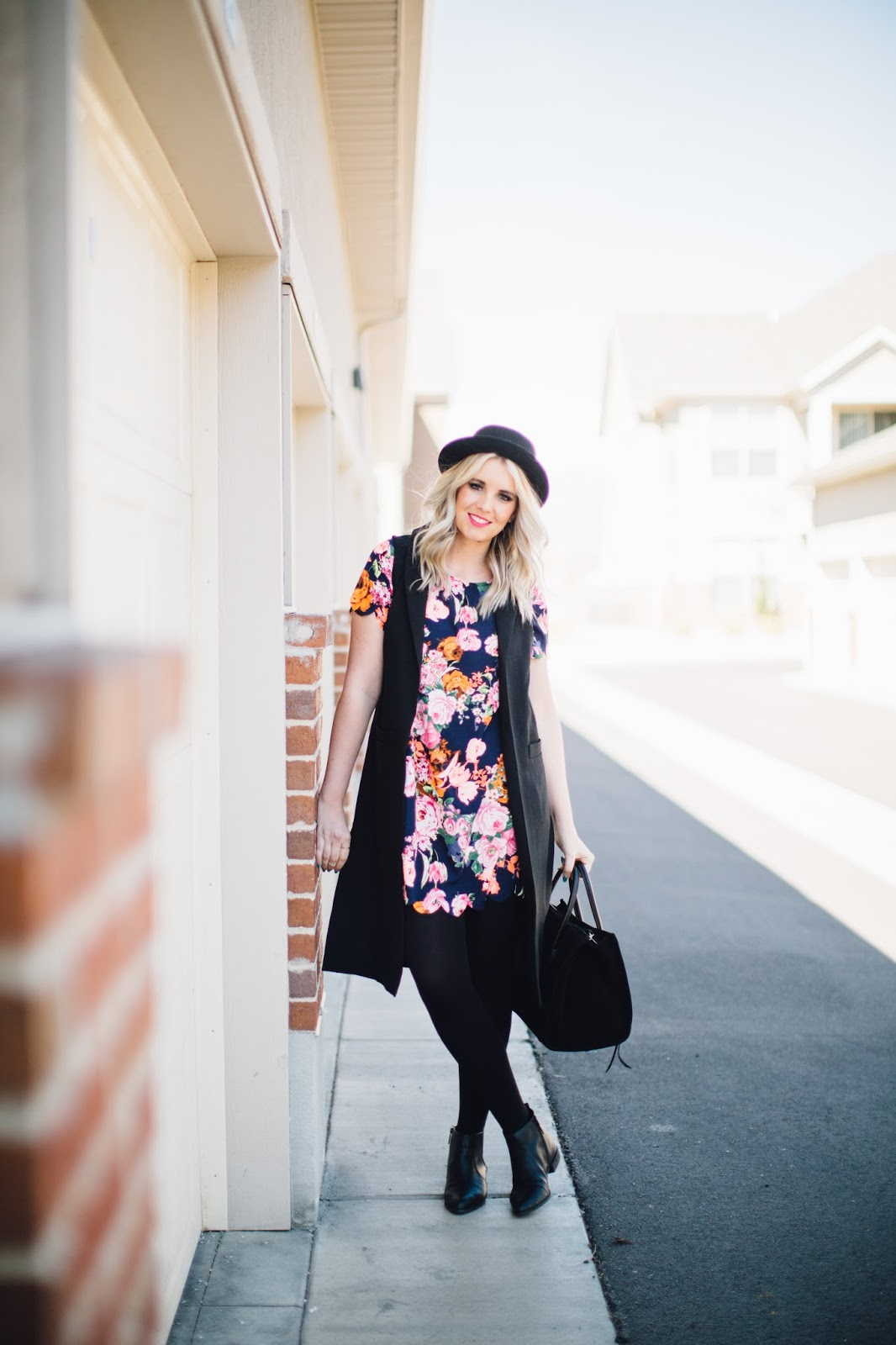 Floral dress, Obsessions Boutique, Spring outfit