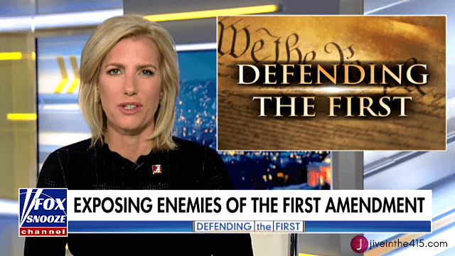 "Laura Ingraham's ""Ingraham Angle"" 'Defending The First' segment on Fox Snooze"
