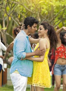 Kajal Aggarwal in saree from movie Enthavaraku Ee Prema with Jeeva