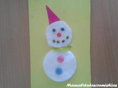 muñeco-de-nieve-discos-algodon-collage