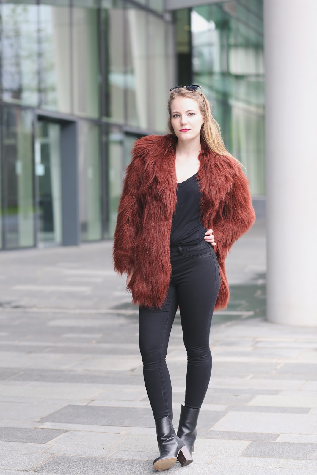 burgundy faux fur coat , faux fur coat womens, fake fur coats, burgundy fluff