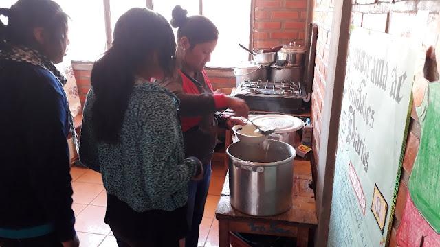 Kochen für das Schülerinternat