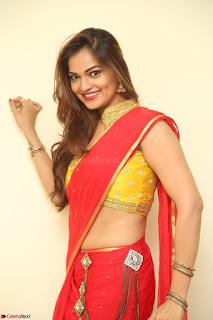 Actress Ashwini in Golden choli Red saree Spicy Pics ~  074.JPG