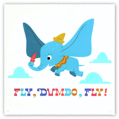WonderCon 2019 Exclusive Dumbo Screen Print by Courtland Lomax x Cyclops Print Works x Disney
