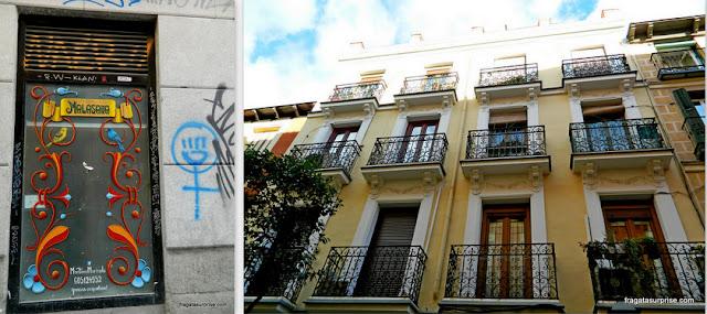 Fachadas do bairro boêmio de Chueca, Madri