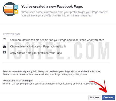 Cara Migrasi Akun Pribadi Facebook Menjadi Fanspage