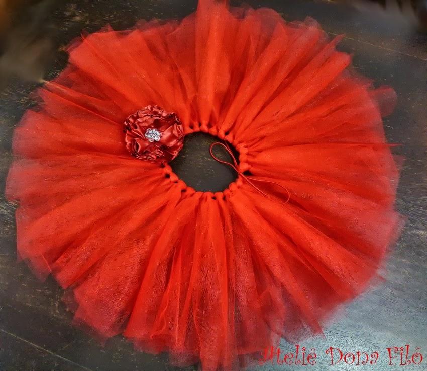 c54e699df9 Dona Filó - Ateliê  Saia Tutu Vermelha - Tule