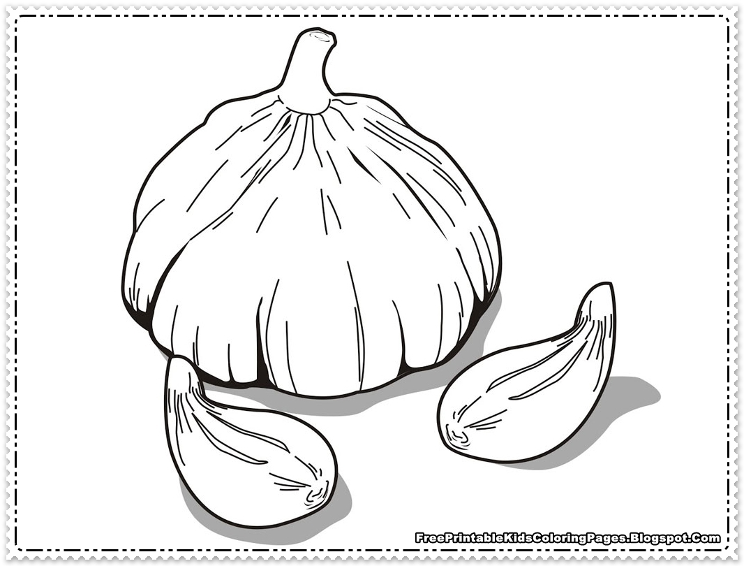 Onions Printable Kids Coloring Pages