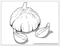 Garlic Coloring Pages To Print Out