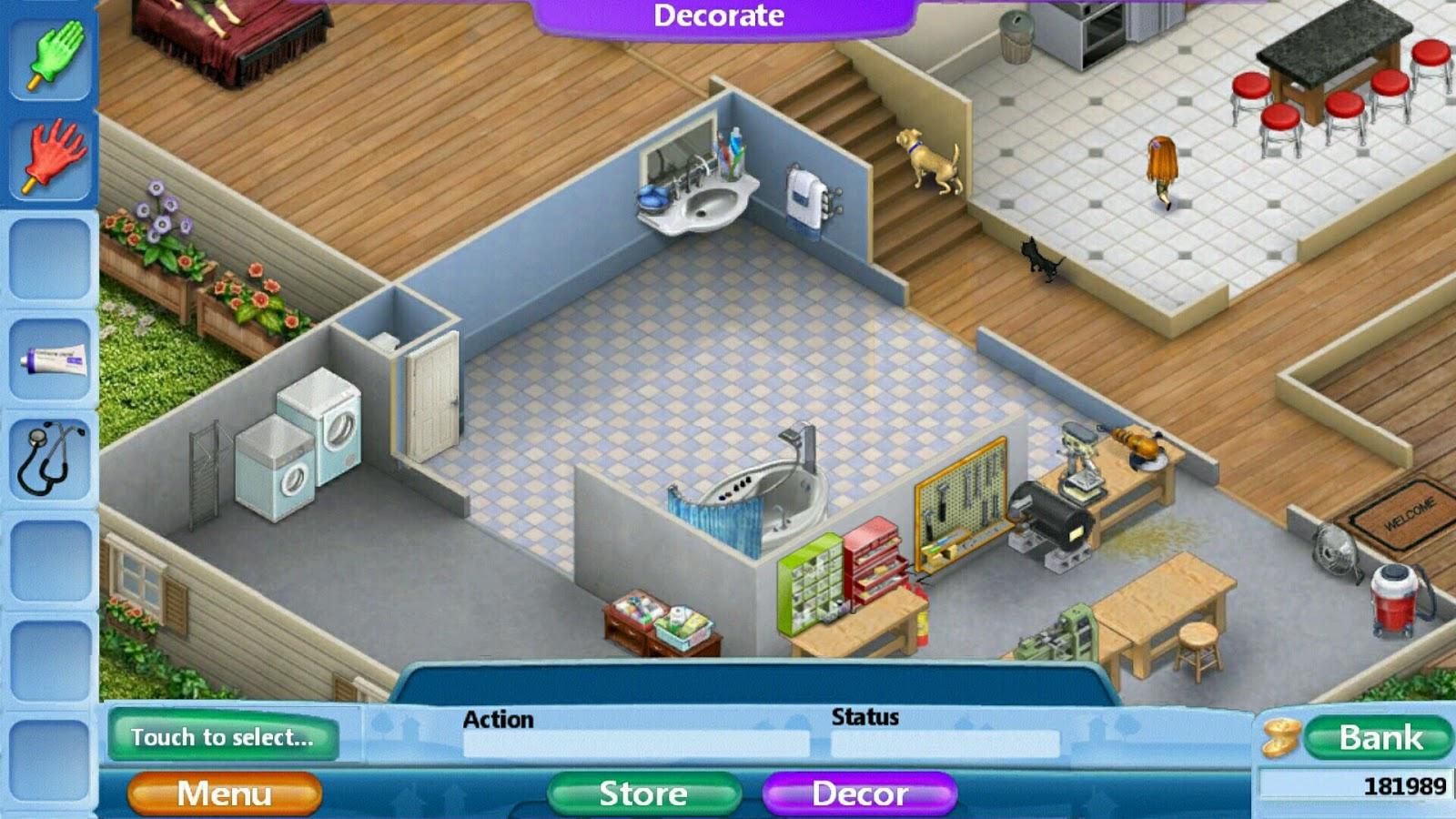 Virtual families 2 home renovation bathroom remodel for Create a virtual house