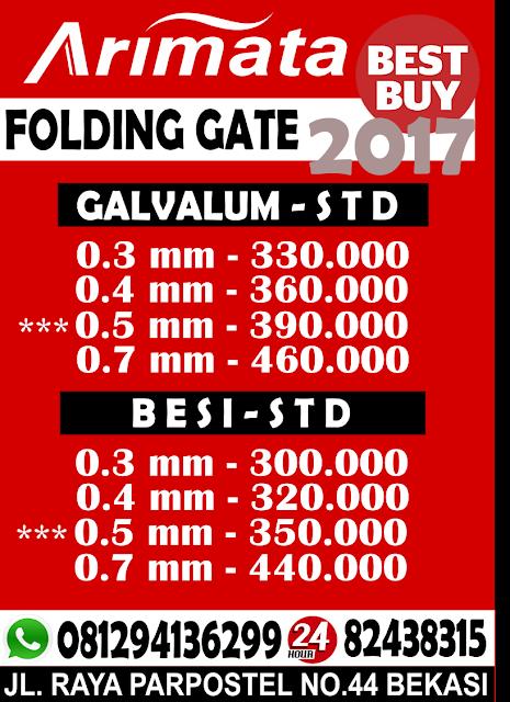 gambar harga folding gate di kamal