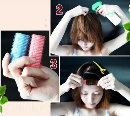 Cách làm tóc xoăn tự nhiên bằng lô nhựa