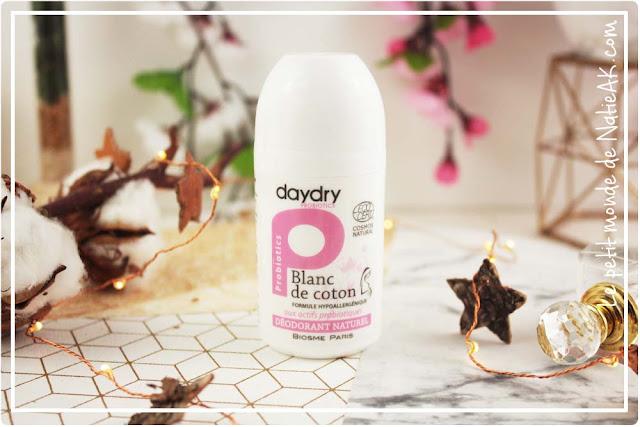 déodorant bio probiotique Blanc de coton Daydry