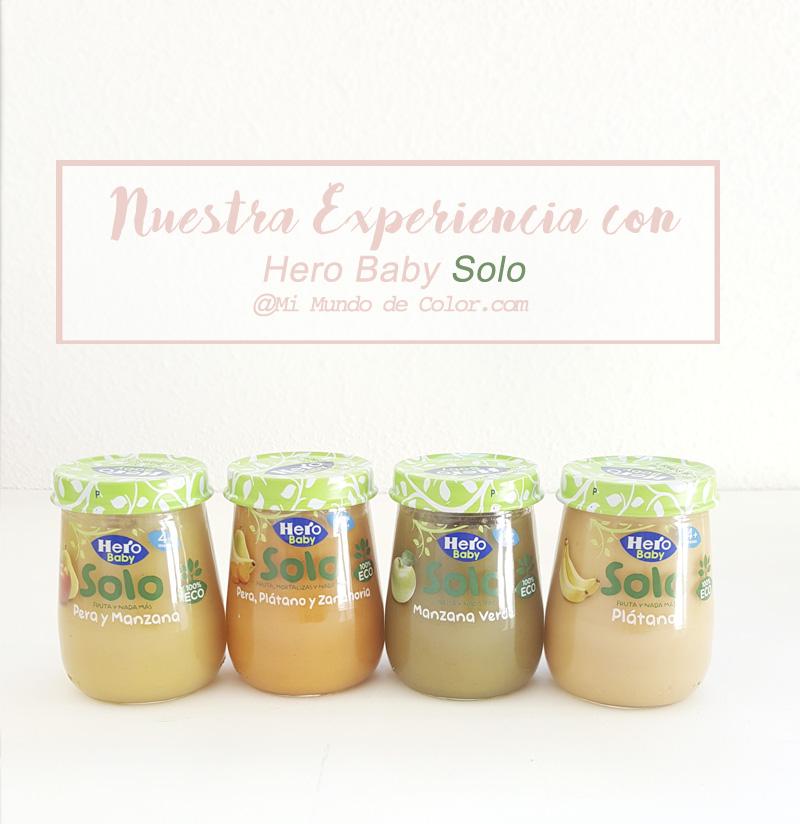 nuevos potitos de fruta ecologica Hero baby solo