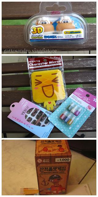 Shopping, souvenir e ricordini vari dalla Corea