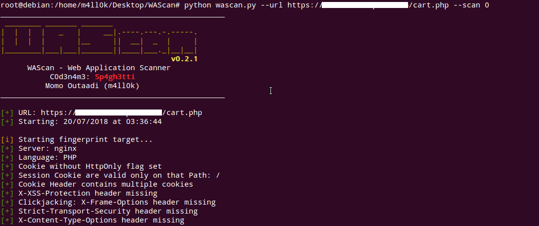 WAScan v0 2 1 - Web Application Scanner