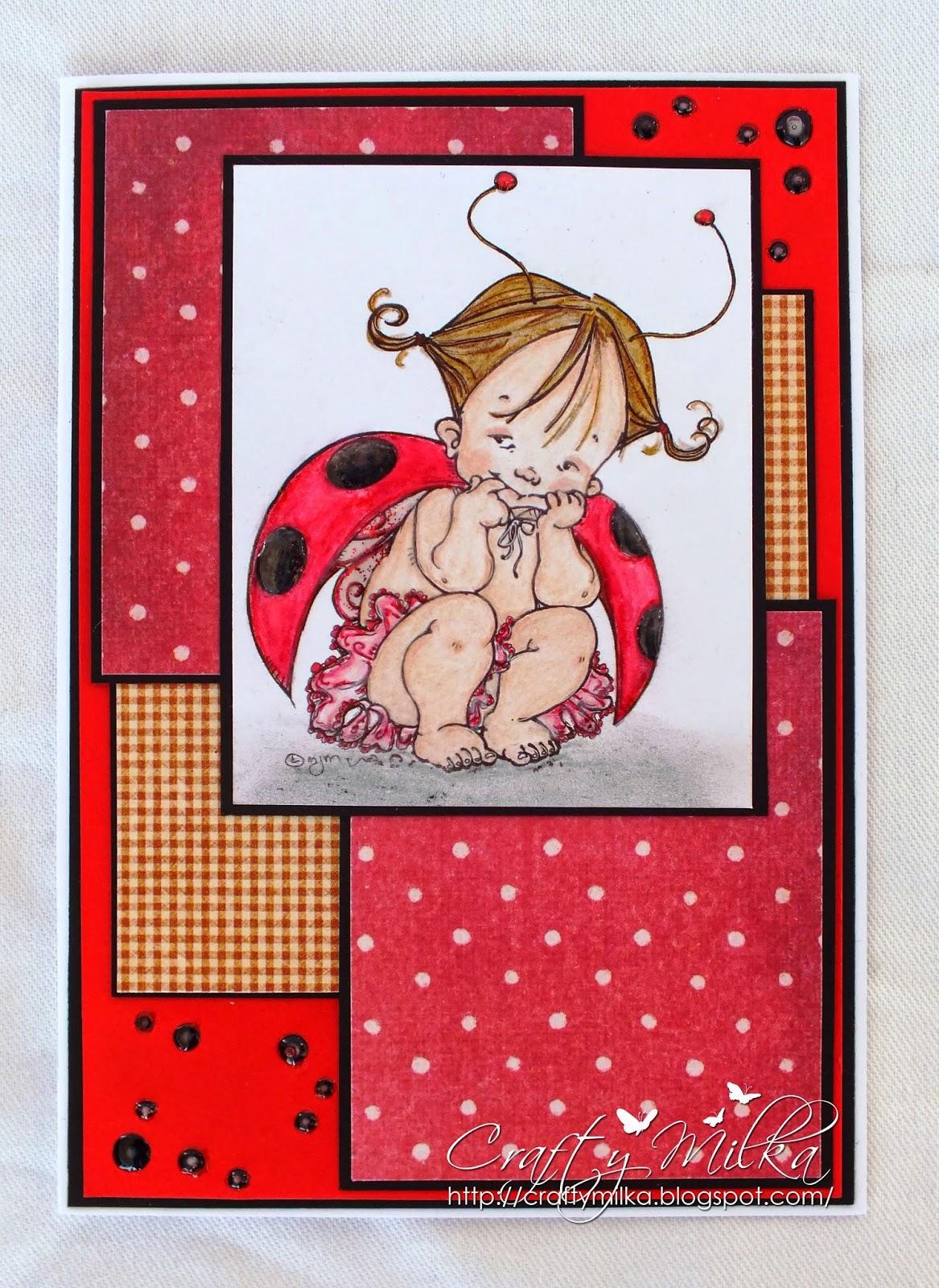 http://craftymilka.blogspot.com/2015/01/baby-fairy-ladybug-card.html