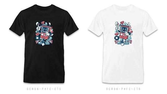 SCR06-P4FC-CTS Cartoon T Shirt Design, Custom T Shirt Printing