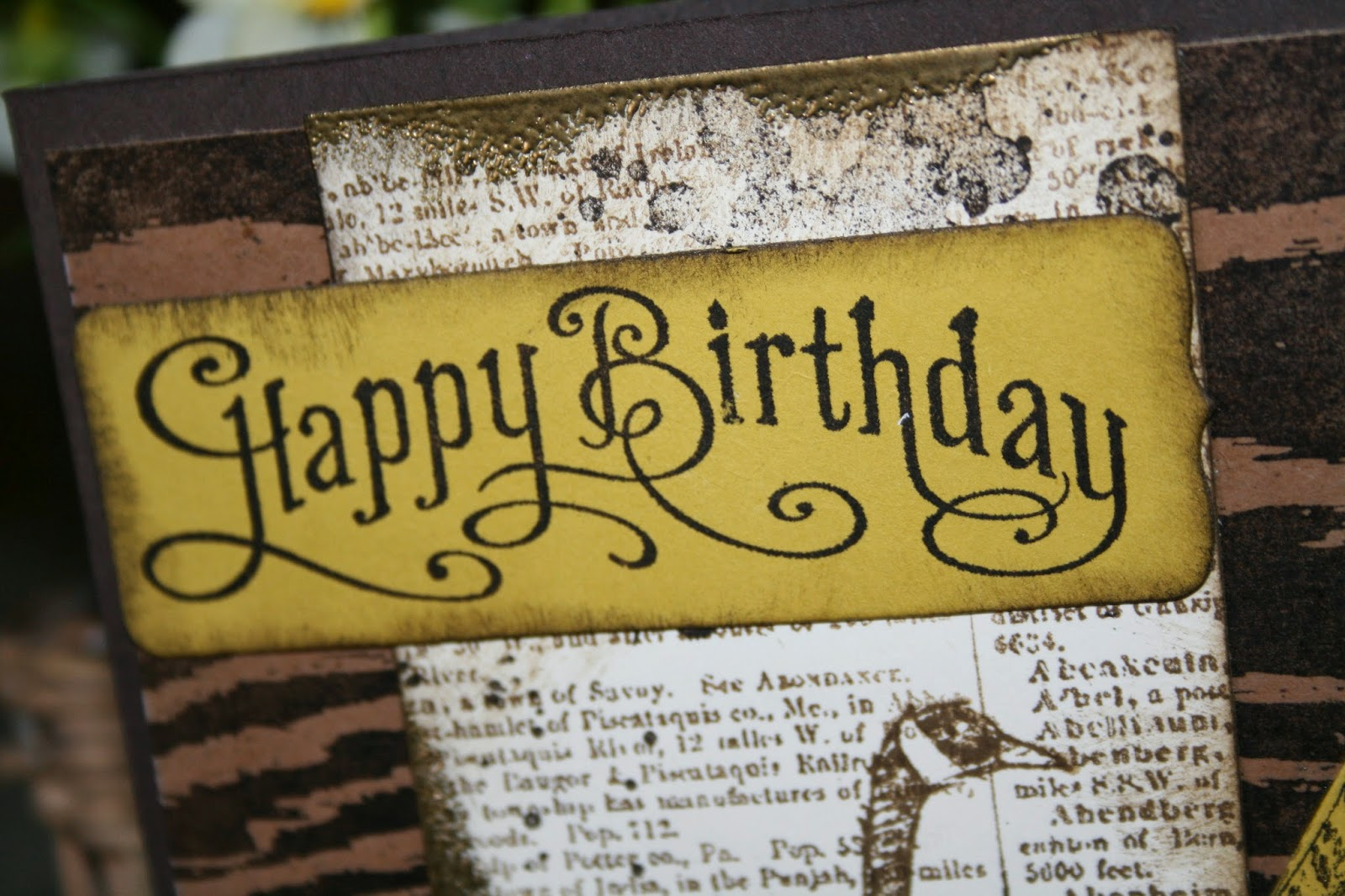 I Thought The Perfectly Penned Stamp Set Had Right Vintage Look For A Greeting My Card Stamped Happy Birthday In Early Expresso On Summer