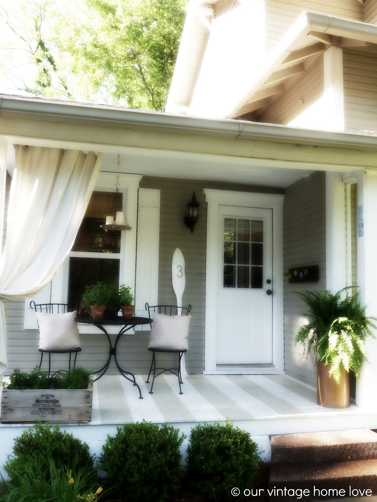 side porch designs vintage home love back side porch ideas for summer and an industrial pipe curtain rod how to 8013