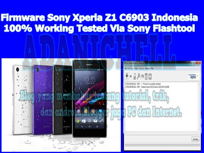 Firmware Sony Xperia Z1 C6903 Indonesia